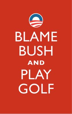 Blame-bush-and-play-golf