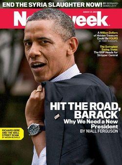 NewsweekHitTheRoadBarack