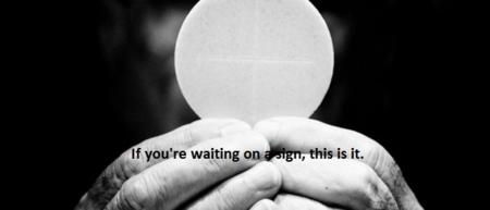 Eucharist-Black-White