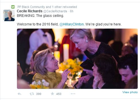 Cecile-richards-planned-parenthood-hillary-welcome